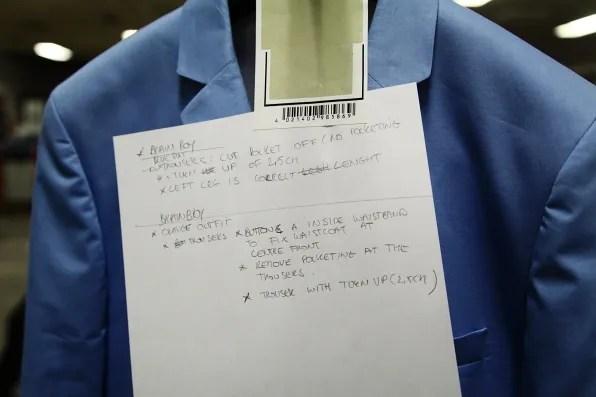 Bryanboy's sky blue jacket
