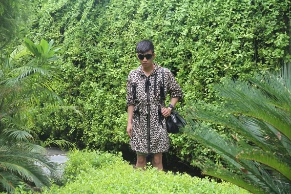 Bryanboy outside the Manor hotel in New Delhi