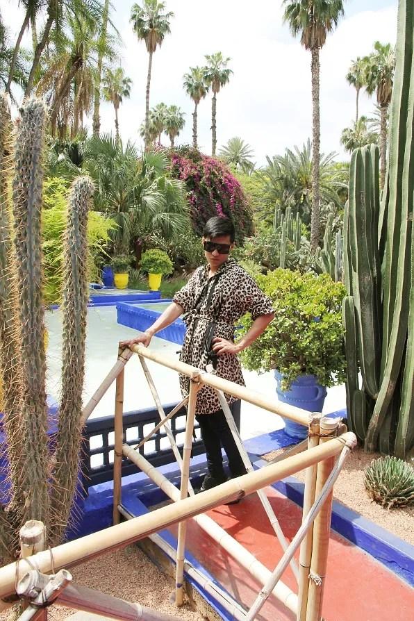 Bryanboy at Les Jardins des Majorelle, Marrakech