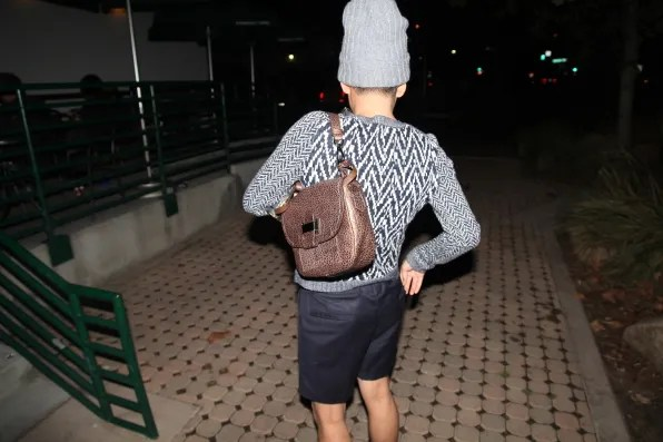 Bryanboy wearing a Theory sweater and Reed Krakoff bag in Malibu