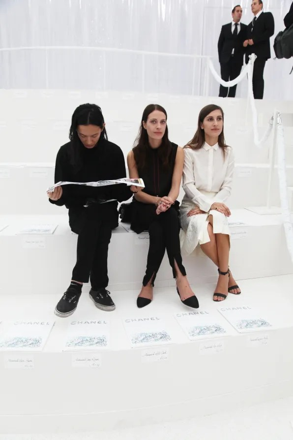 Alexander Wang sitting second row at Chanel spring summer 2012 fashion show