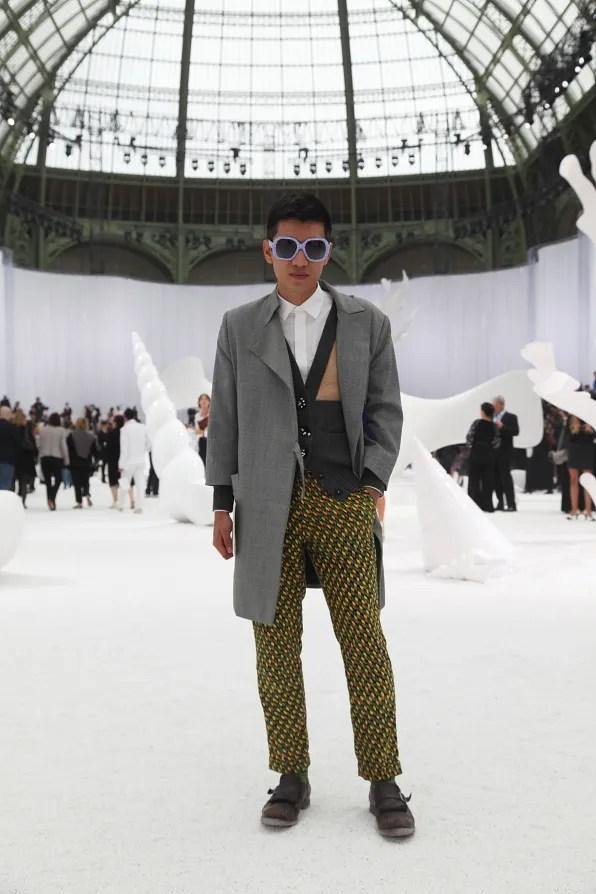 Bryanboy on set at Chanel spring/summer 2012 fashion show in Paris