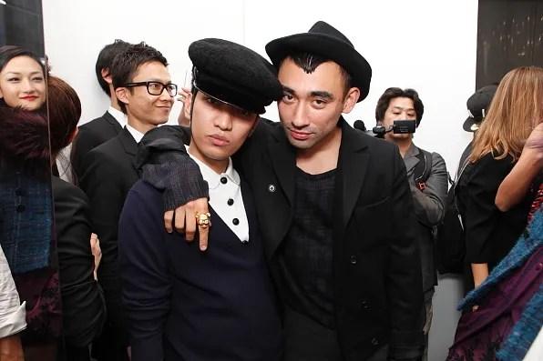 Bryanboy and Nicola Formichetti inside Christian Dior Tokyo