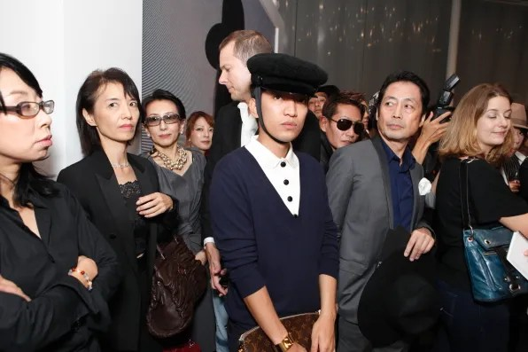 Bryanboy inside the Christian Dior flagship for Fashion's Night Out 2011 Japan