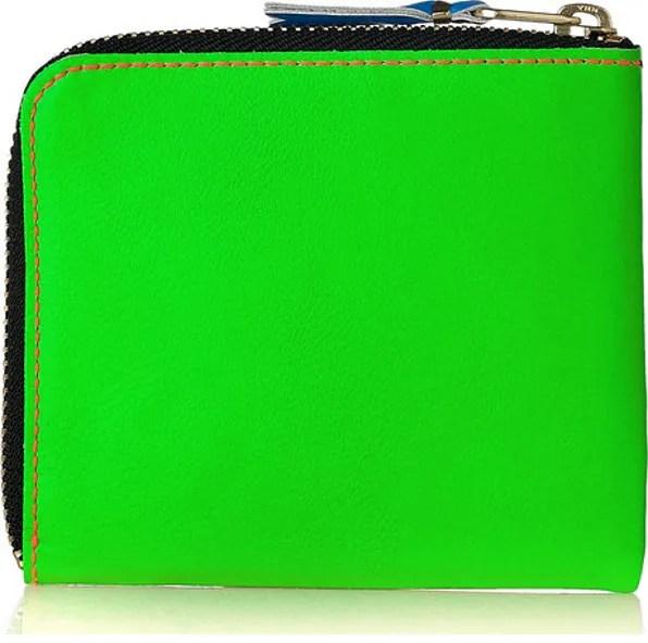 Comme des Garçons Wallet in Fluorescent Green color