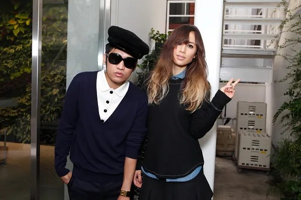 Bryanboy and Rumi Neely at Costume National Aoyama Complex, Tokyo
