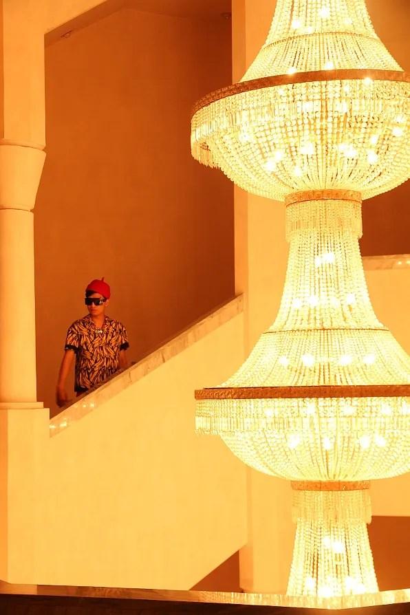 Marrakesh Palais des Congres crystal chandeliers
