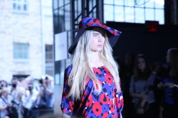 A floral printed dress at DKNY spring summer 2012