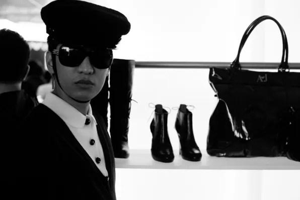 Bryanboy inside Emporio Armani boutique Tokyo