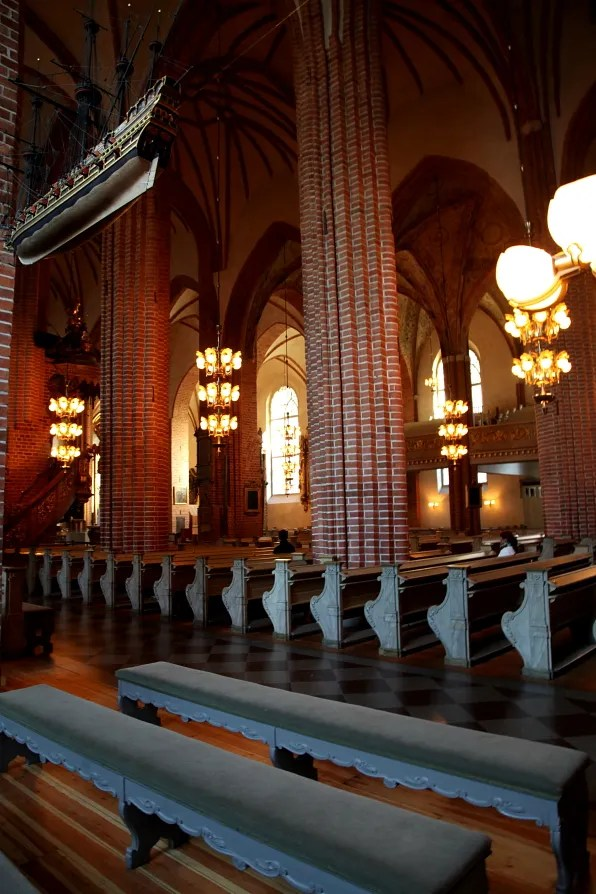 Benches inside Storkyrkan, Stockholm