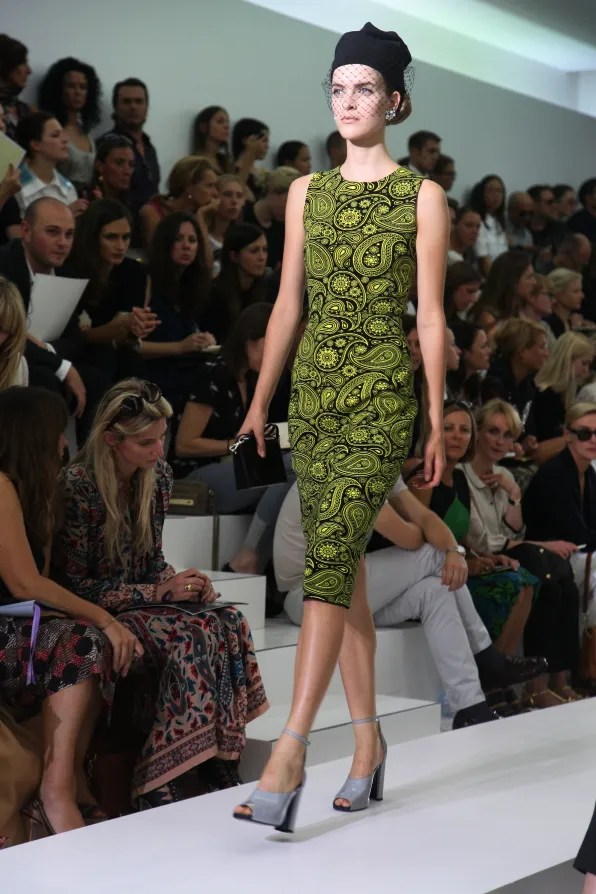 First Look - Jil Sander Spring Summer 2012: Floral dress