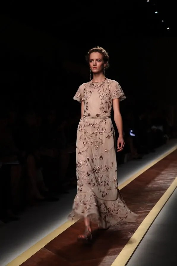 First Look - Valentino spring/summer 2012 nude embroidered evening dress
