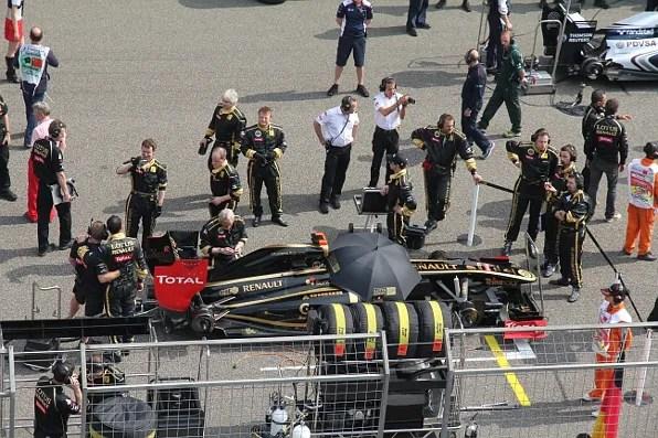 Lotus Renault at Formula 1 Shanghai