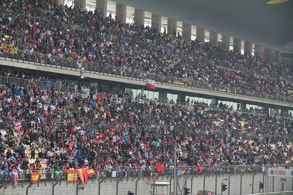 Formula 1 Shanghai Stadium Audience