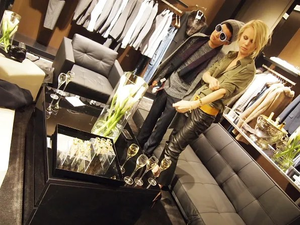 Bryanboy and Elin at Hugo Boss Stockholm