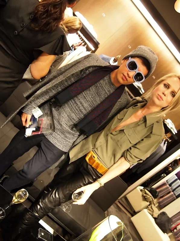 Bryanboy and Elin Kling at Boss Hugo Boss Stockholm
