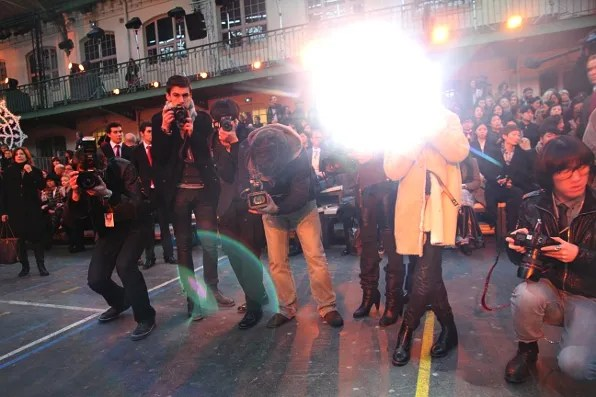 Photographers at Kenzo fall winter 2011 fashion show in Paris