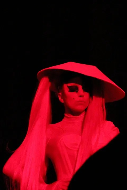 Lady Gaga at Mugler Fall Winter 2011