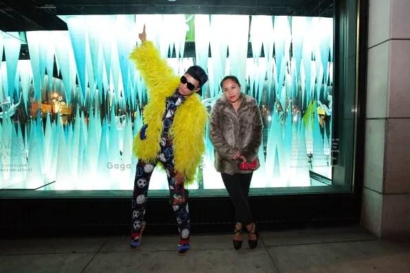 Lady Gaga's Workshop window display at Barney's