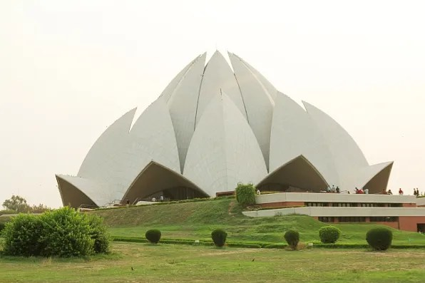 Bahai House of Worship, Lotus Temple in New Delhi, India