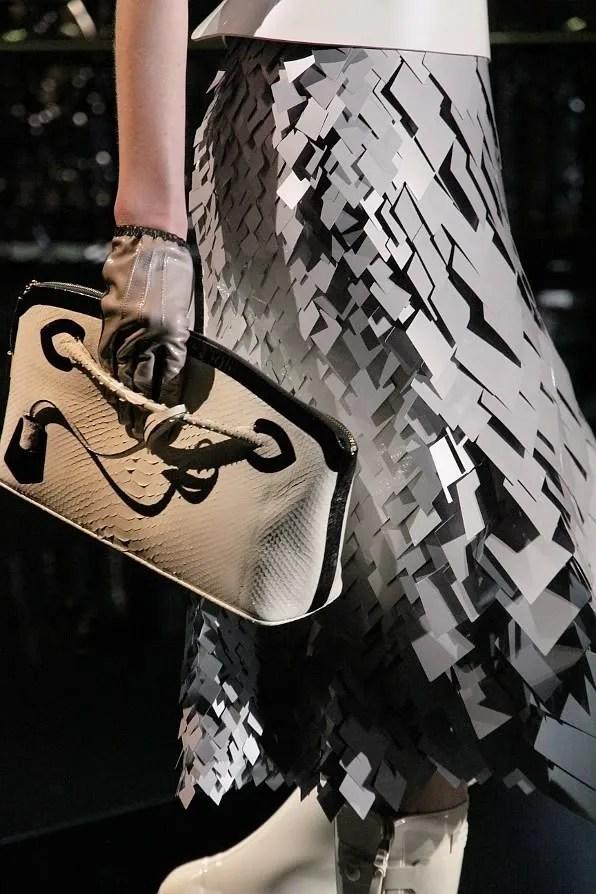 Fall winter 2011 Louis Vuitton skirt close-up photo