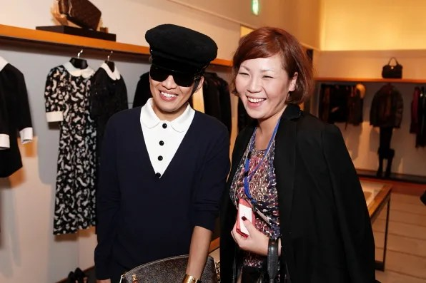 Bryanboy and a Japanese Fan at Louis Vuitton Tokyo