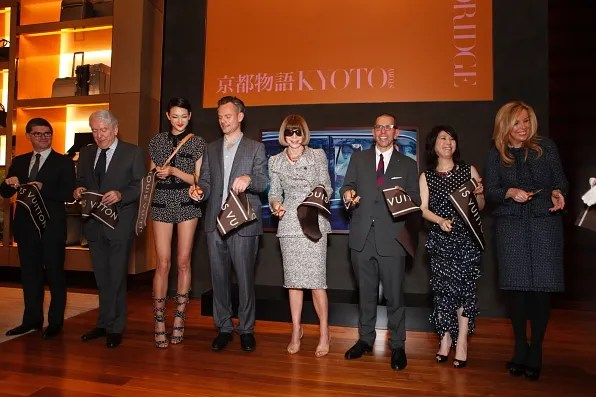 Ribbon cutting ceremony at Louis Vuitton Tokyo