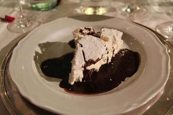 Dessert at the Firenze4Ever dinner at La Specola, Firenze