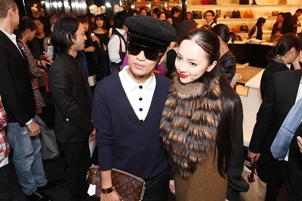 Bryanboy and a Japanese celebrity wearing Fendi at Marc Jacobs Tokyo