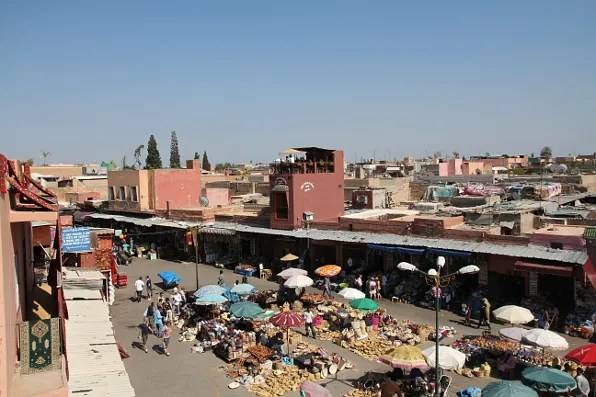 Market stalls at the Medina, Marrakesh