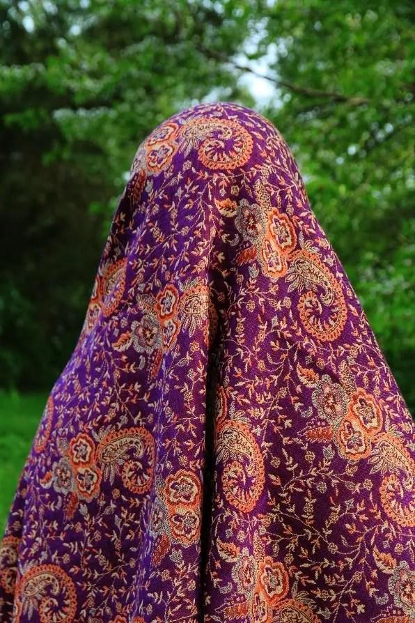 Purple Moroccan shawl