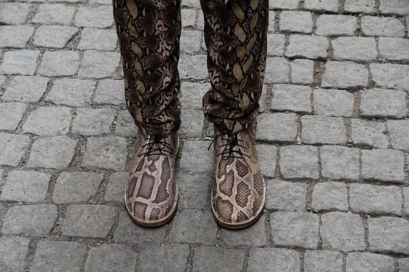 Acne Desert boots in snakeskin