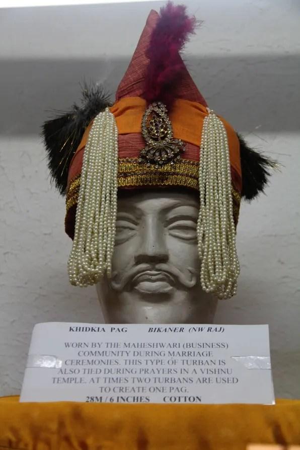Maheshwari wedding turban at the Turban Museum