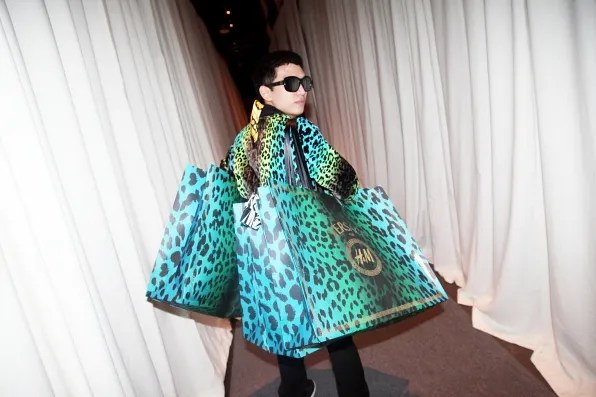 Bryanboy after shopping at Versace for H&M collaboration launch