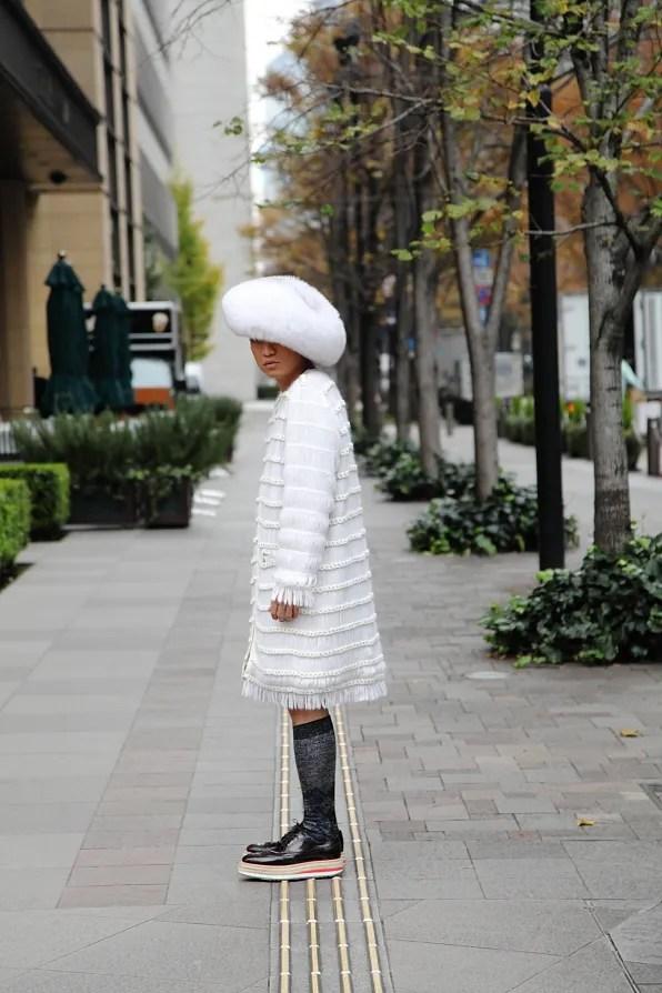 Bryanboy standing outside Peninsula hotel, Tokyo