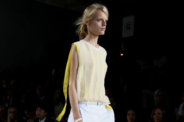 Hanne Gaby Odiele at 3.1 Phillip Lim spring summer 2012 fashion show