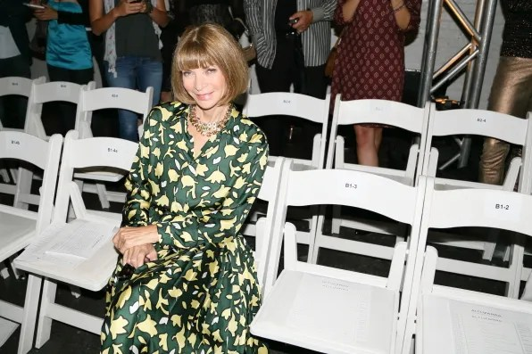Anna Wintour at Altuzarra spring/summer 2013 fashion show