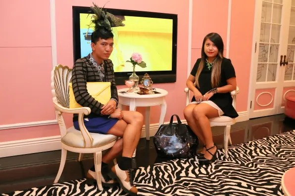 Bryanboy and Wendy Lam at Anna dello Russo x H&M accessories launch