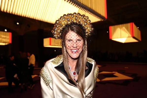 Anna Dello Russo at Prada fashion show fall winter 2012