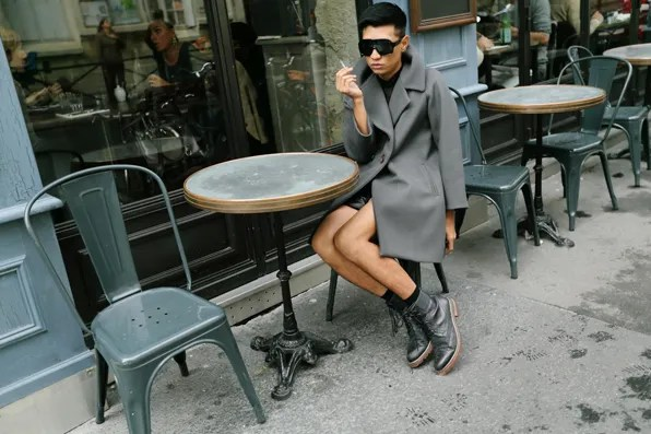 Bryanboy wearing a Sonia Rykiel coat in Paris