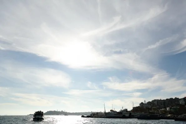 Afternoon sky along the Bosphorus