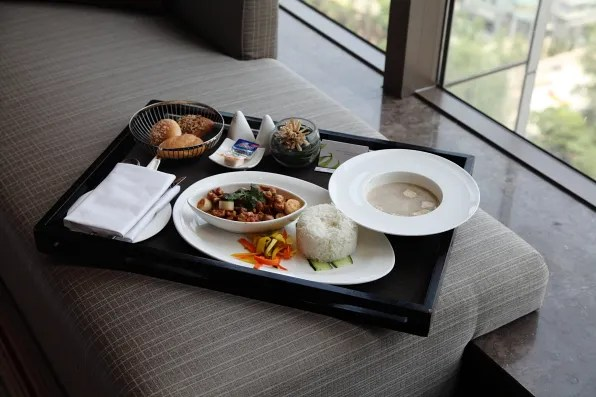 Beijing room service lunch