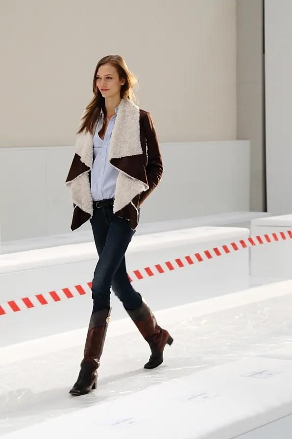 Karlie Kloss at Hugo Boss Fall Winter 2012 fashion show rehearsal