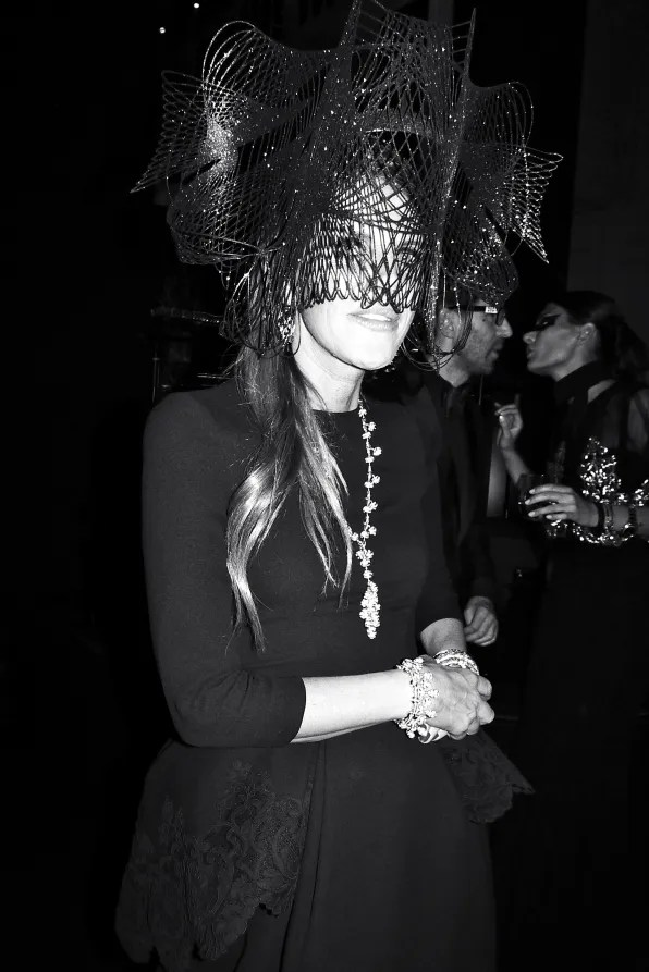Anna dello Russo at the Carine Roitfeld black-tie 'Le Bal' for MAC Cosmetics