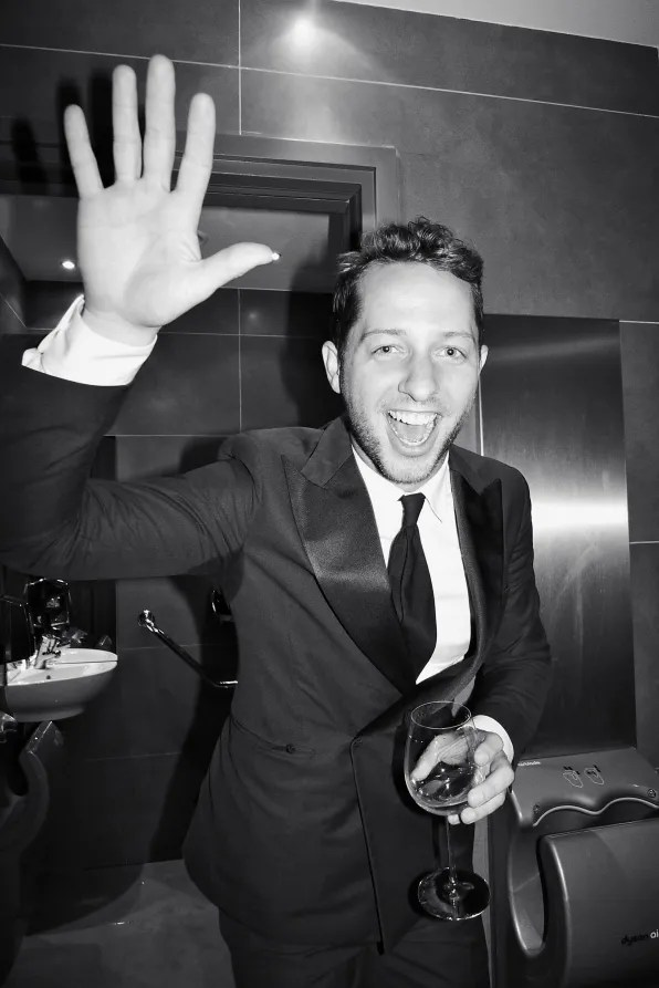 Derek Blasberg at the Carine Roitfeld x MAC ball in Paris