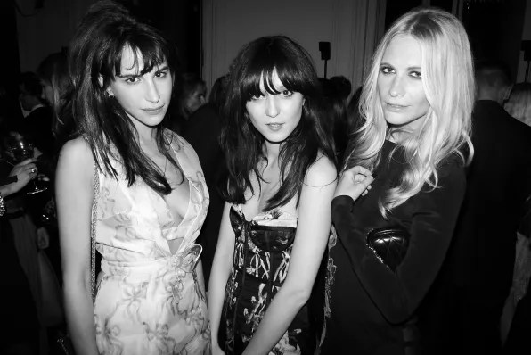 Caroline Sieber, Irina Lazareanu, Poppy Delevigne at the Carine Roitfeld black-tie 'Le Bal' for MAC Cosmetics