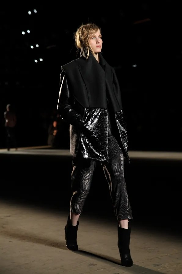 Sleeveless coat from Edun fall winter 2012