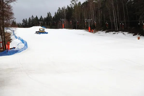 Snow in Flottsbro, Sweden