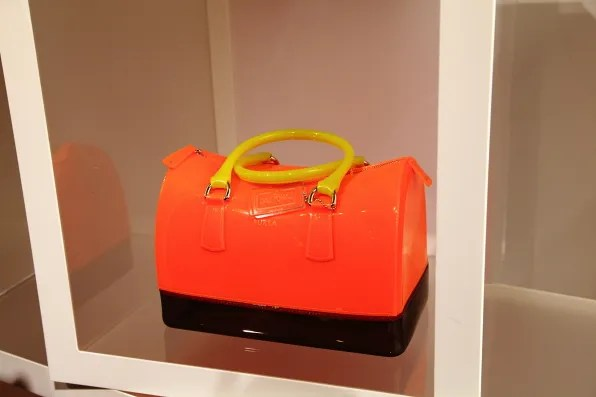 Furla Candy Bag in neon orange.