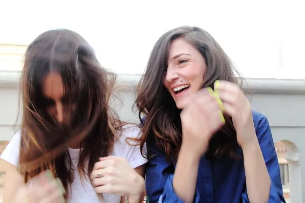 Gala Gonzalez and Eleonora Carisi hair